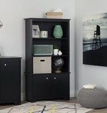 South Shore Vito Small 2-Door Storage Cabinet, Pure Black