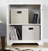 South Shore Vito Small 2-Door Storage Cabinet, White