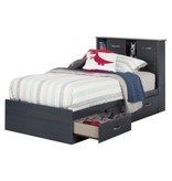 "South Shore Ulysses Mates Twin (39"") Bed with 3 Drawers"