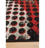 Kalora Platinum Industrial Red Black Crate Rug 3ft x 5ft