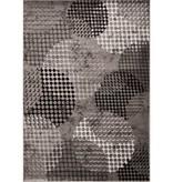 Kalora Platinum Industrial Grey Cream Crate Rug 5ft x 8ft