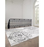 Kalora Platinum Venetian Silver Damask Rug 3ft x 5ft