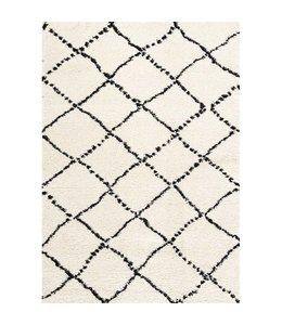 Kalora Maroq Black/White Diamonds Soft Touch Rug 5ft x 8ft