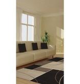Kalora Casa Familiar Charcoal Beige Rug 8ft x 10ft