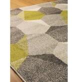 Kalora Camino Green/Grey Honeycomb Rug 8ft x 10ft
