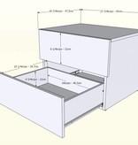 Nexera 2-Drawer Kabane Night Stand, Natural Maple