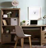 South Shore Bureau de travail 2 tiroirs, Chêne rustique, collection Gascony