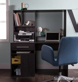 South Shore Bureau de travail pour ordinateur, Chêne gris, collection Annexe