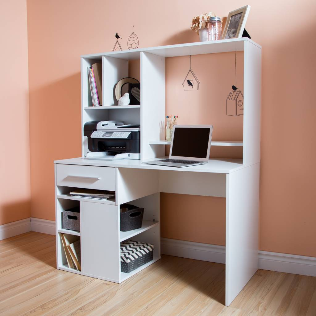 South shore annexe home office computer desk pure white m2go