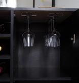 South Shore Meuble bar/rangement pour bouteilles et coupes, Chêne noir, collection Vietti