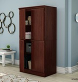 South Shore Armoire de rangement 4 portes, Cerisier royal, collection Morgan