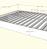 "Nexera Nocce Full Size Bed (54""), Truffle"