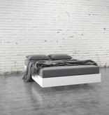 Nexera Full Size Platform Bed White, Acapella