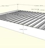 Nexera Queen Size Platform Bed Nordik, Natural Maple