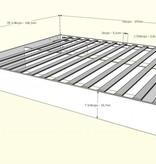 Nexera Full Size Platform Bed (54''), Natural Maple