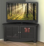 "Nexera Pinnacle Corner TV Stand 49""L, Black"