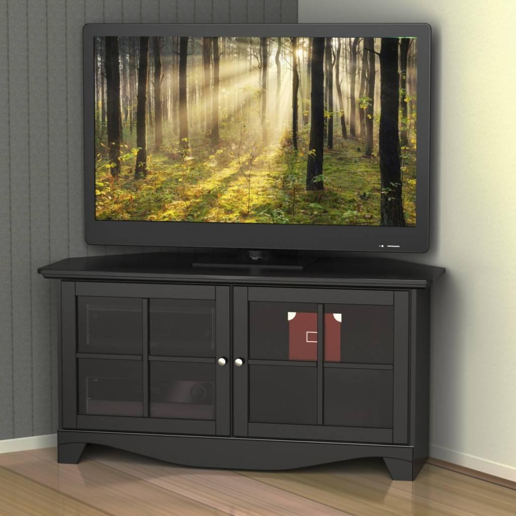 """Meuble Tv En Coin meuble tv (49"""") en coin, noir, collection pinnacle"""