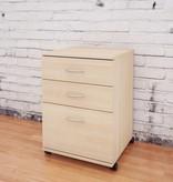 Nexera 3-Drawer Mobile Filing Cabinet, Natural Maple, Essentials