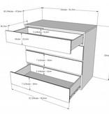 Nexera 4-Drawer Chest, White, Blvd