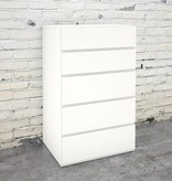 Nexera 5-Drawer Chest, White, Blvd