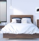 Nexera Full Size Platform Bed, Walnut, Alibi