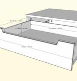 Nexera 1-Drawer Nightstand, Walnut & Charcoal, Alibi