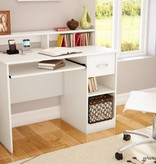 South Shore Bureau de travail, Blanc solide, collection Axess