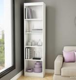 South Shore Axess 5-Shelf Narrow Bookcase, Pure White