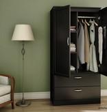 South Shore Acapella Wardrobe Armoire, Pure Black