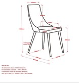 WHi Cora Side Chair in Grey