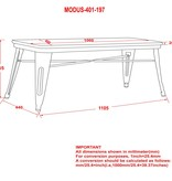 !nspire Modus Backless Double Bench in Gunmetal