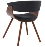 !nspire Holt Accent Chair in Charcoal Grey