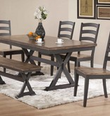 """Donald Choi Paxton Dining Table (36""""x72""""), Black and Brown"""