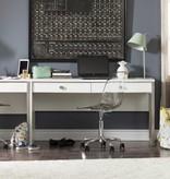 South Shore Bureau de travail 1 tiroir, Blanc solide, collection Interface
