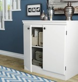 South Shore Armoire de rangement 2 portes, Blanc solide, collection Morgan
