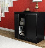 South Shore Armoire de rangement 2 portes, Noir solide, collection Morgan