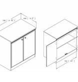 South Shore Morgan Small 2-Door Storage Cabinet, Pure Black