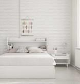 """Nexera Aura Full Headboard (54"""") with Storage, White"""