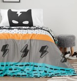 South Shore DreamIt Black and White Superheroes Reversible Twin Comforter and Pillowcase