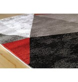 Kalora Platinum Red/Grey/Black Triangles Rug 8ft x 10ft