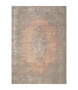 Kalora Tapis Cathedral, bordure traditionelle saumon/gris 5pi x 8pi