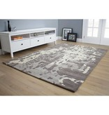 Kalora Manika Grey/Cream Shattered Glass Rug 8ft x 10ft