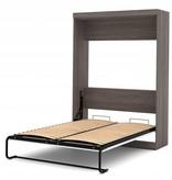 Bestar Full Wall bed in Bark Gray & White, Nebula