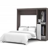 Bestar Full Wall bed 84'' kit in Bark Gray & White, Nebula