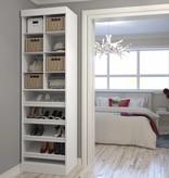 Bestar Multi-Storage Cubby 25'' in White, Pur