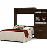Bestar Queen Wall bed 101'' kit in Chocolate, Pur