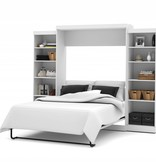Bestar Queen Wall bed 115'' kit in White, Pur