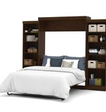 Bestar Queen Wall bed 115'' kit in Chocolate, Pur