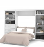 ens lit double escamotable 120 en blanc pur m2go. Black Bedroom Furniture Sets. Home Design Ideas