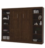 Bestar Full Wall bed 109'' kit in Chocolate, Pur